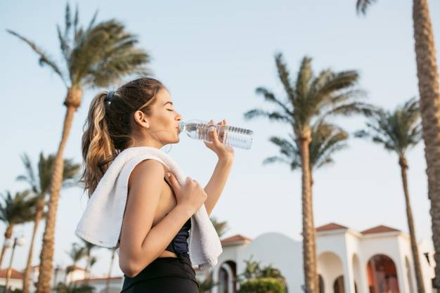 The importance of drinking water before, during and after exercise