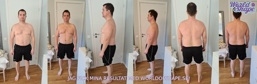 Pontus results in just 30 days with Fitnessfighten: