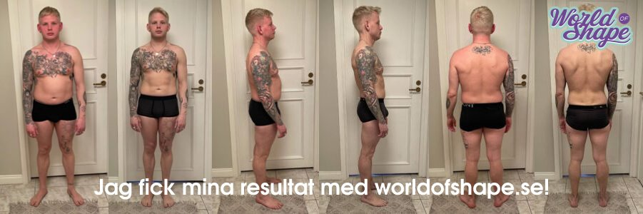 Emil's results in just 30 days with Fitnessfighten: